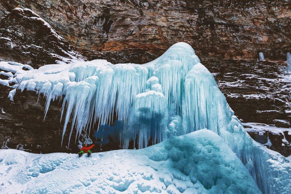 Modalidad de escalad en hielo