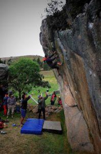 escalada en roca boulder