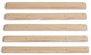 Listones de madera para escalar