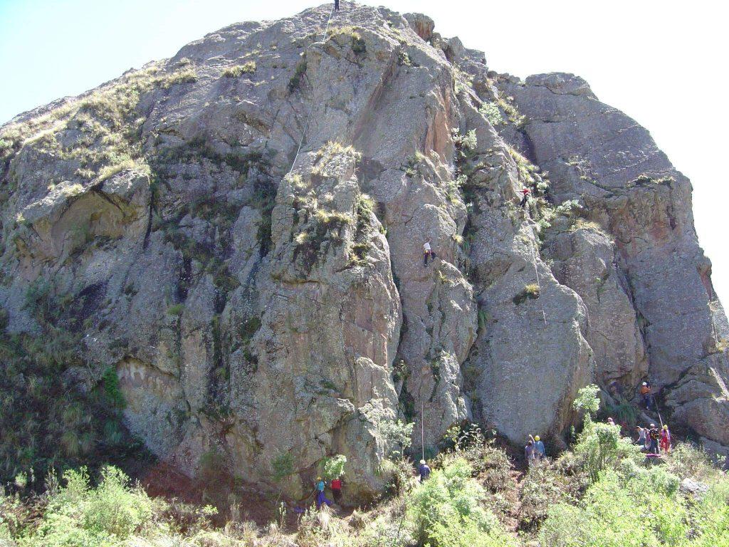 Copina escalada en roca